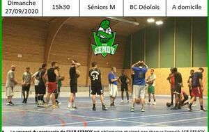 Match Séniors M le 27/09/2020